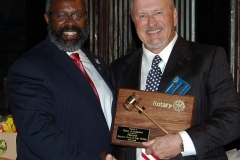 incoming President Archie Hayward & outgoing President Fred Anderson
